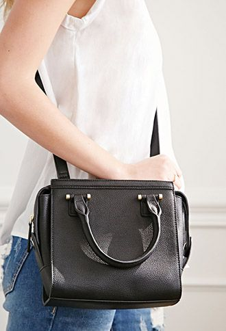 Faux Leather Mini Satchel | Forever 21 - 1000115304