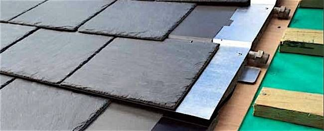 Solar thermal system integrates invisibly into slate roof - Treehugger  Lloyd Alter