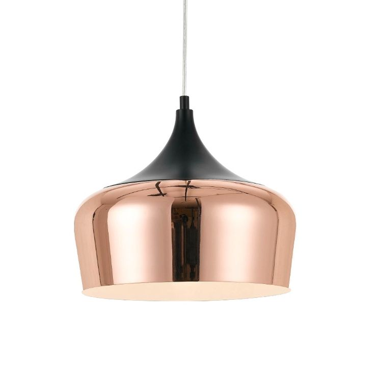 Telbix+Polk+30+Medium+Pendant+Light+Copper/Black  sc 1 st  Pinterest & Best 25+ Copper light fixture ideas on Pinterest | Copper lighting ... azcodes.com