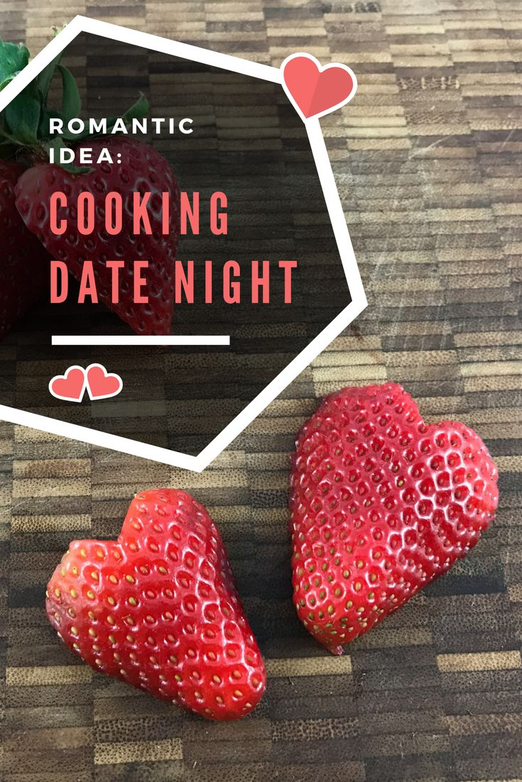 Valentine's Day date night idea, play a fun cooking game. Includes how to play.