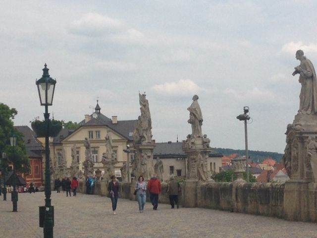 Looks a bit like Charles Bridge in Prague but this is an alley to St. Barbora Cathedral in Kutna Hora