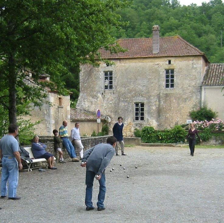 A game of petanques in the village