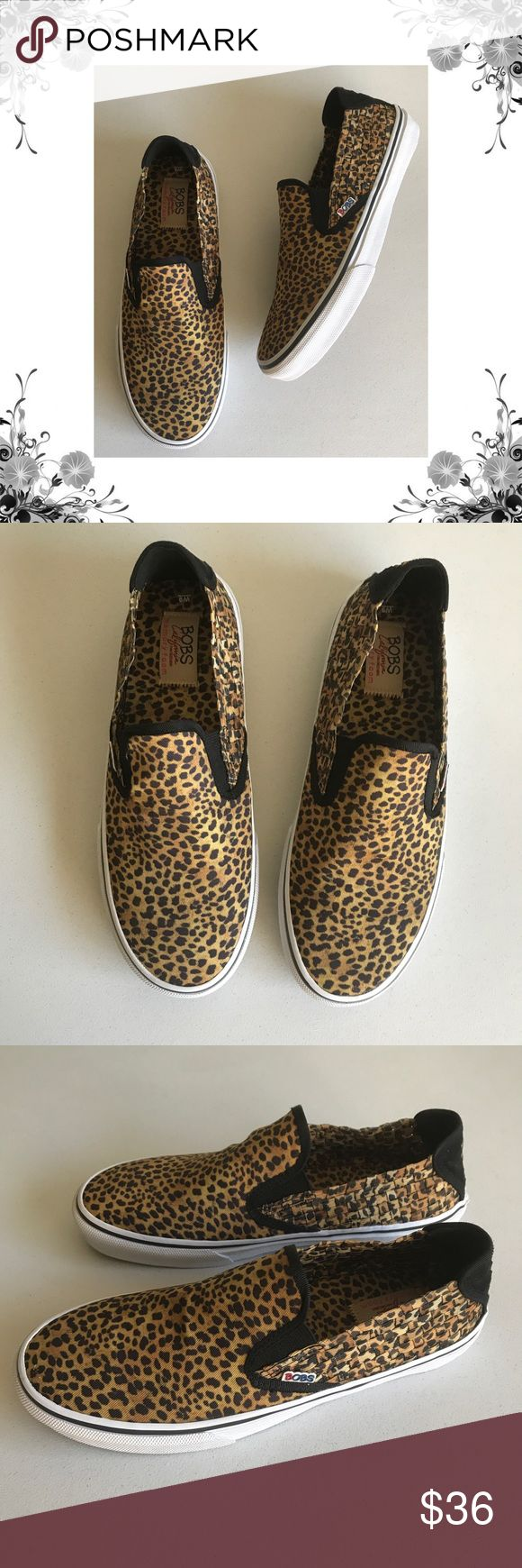 "{Skechers} Bob's The Menace Top Cat Slip-Ons Manufacturer Color is Leopard. New with box. Heel Height is approx 1"". Platform Height is approx 1"". Slip On. Textile/Man Made material. Woven fabric. Animal Print. Bundle for discounts! Thank you for shopping my closet! Skechers Shoes Flats & Loafers"