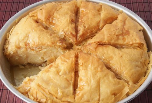 Galaktoboureko - This Greek milk pie recipe is best served the day it's made so the crust stays flaky.