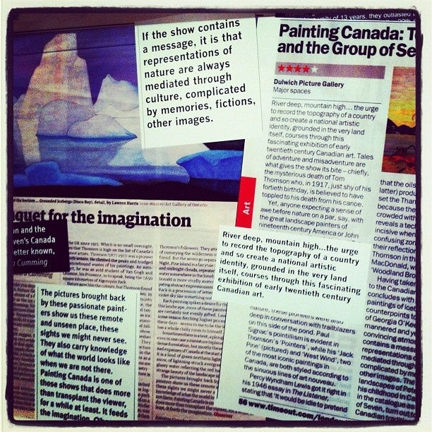 Entrance to the Painting Canada: Tom Thomson and the Group of Seven Exhibition