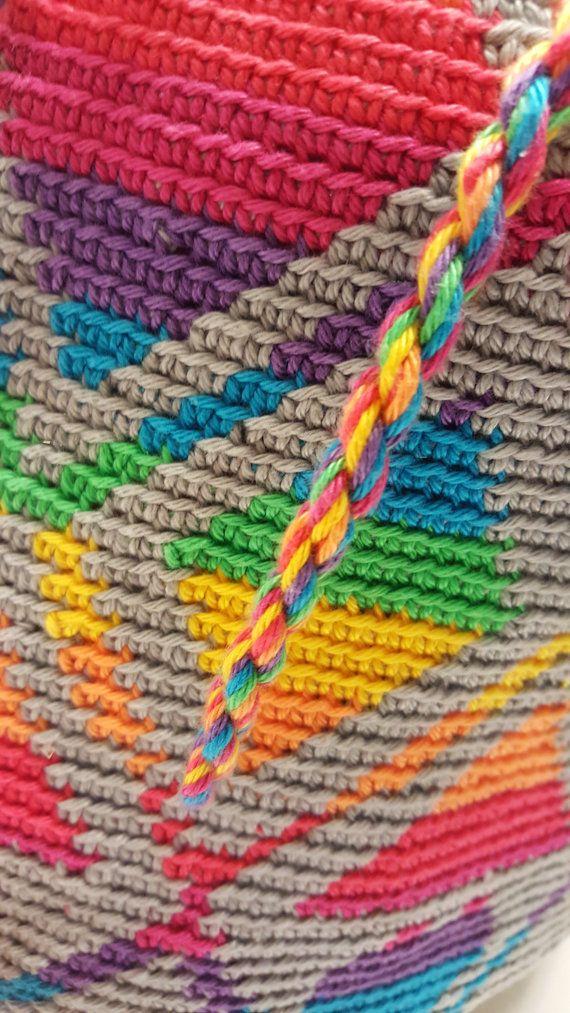 Crochet Mochila bag a real Niki by EenEchteNiki on Etsy