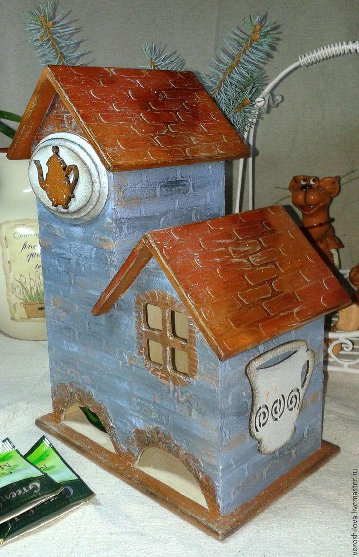 """Купить Чайный домик """"...и булочная"""" - голубой, чайный домик, чайный домик декупаж"""