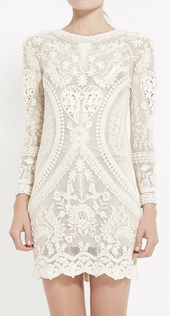 This dress would be perfect with short sleeves at an angled horty-cap and a boat neck. Isabel Marant Ivory Dress