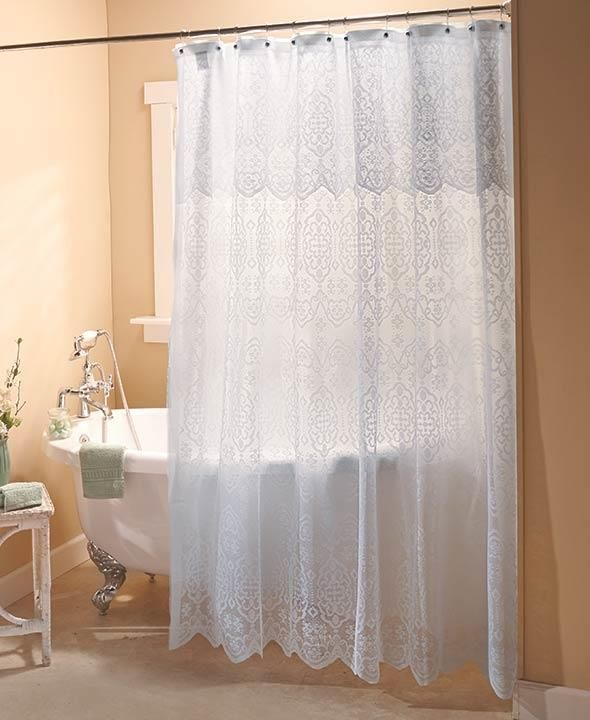 17 best ideas about lace shower curtains on pinterest