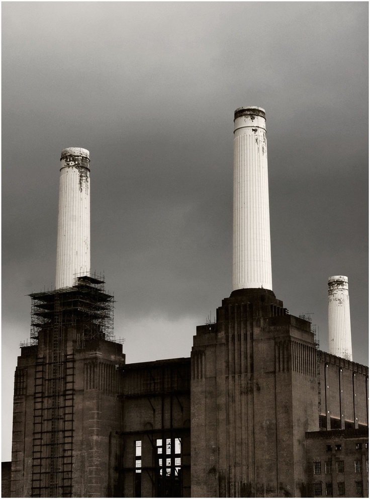 Battersea Power Station in London (where they photographed the cover for Pink Floyd's Animals album)