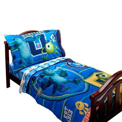 Disney Monsters University 4 Piece Bedding Set - Toddler, Blue