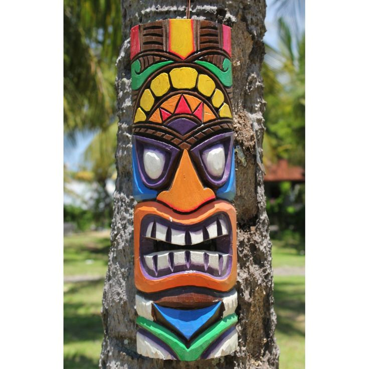 mosaic tiki mask | ... tiki mask 50cm the gorgeous vibrant 50cm tall wiki tiki masks that we