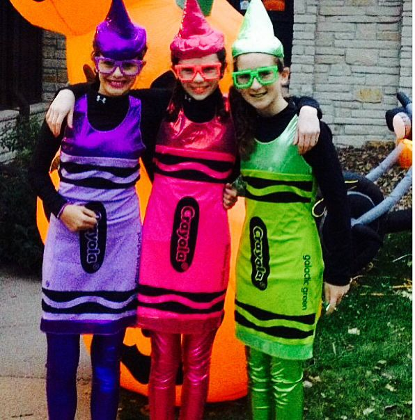 Fun halloween costume that I did this year with my friends Frida and Kaitlyn! You can do this by your self or with friends. One of the good things is everyone of your friends can be a different color crayon because there are so many colors!