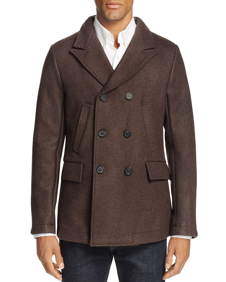 Billy Reid Bond Wool Blend Pea Coat 100 Bloomingdale's