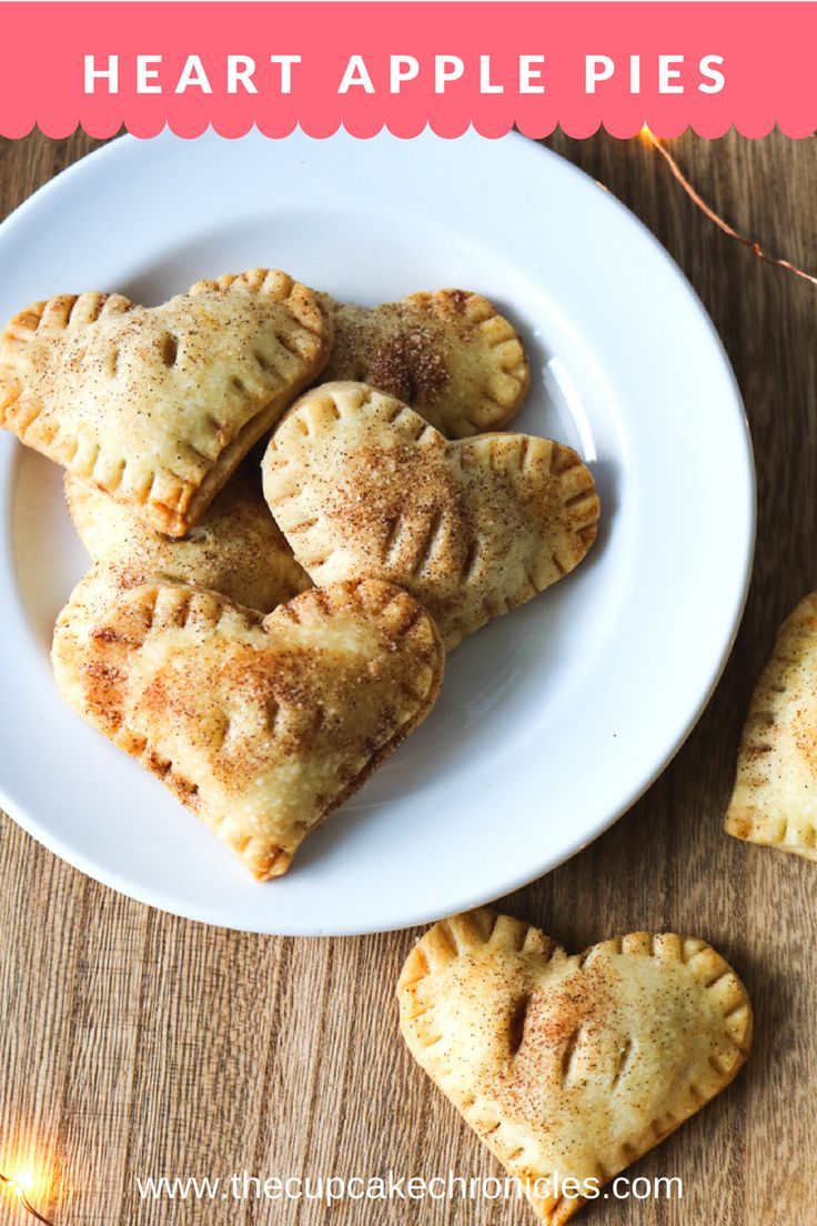Mini heart apple pies that are cute as a button and perfect for all of your leftover pie dough!
