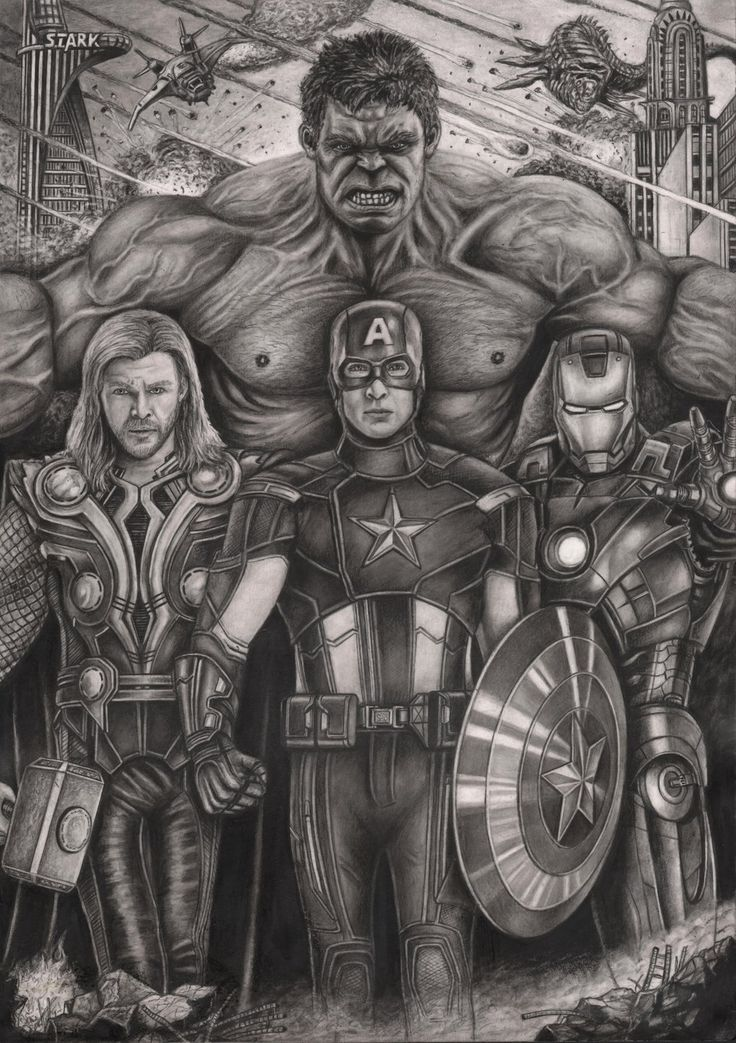 'The Avengers' graphite drawing by Pen-Tacular-Artist.deviantart.com on @deviantART