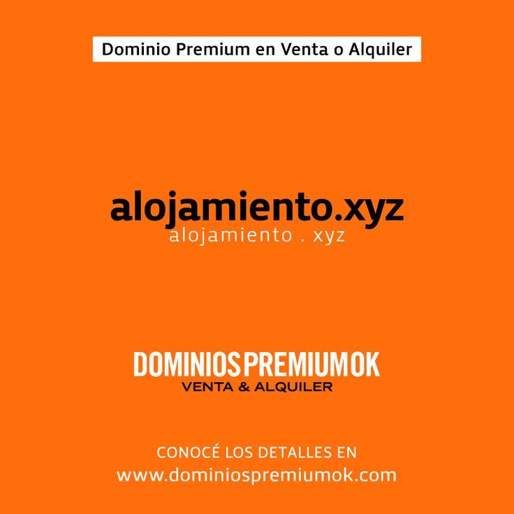 www.alojamiento.xyz es un Dominio Premium. Compralo o alquilalo para tu #empresa e invertí menos en publicidad posicionando este excelente Nombre de Dominio en Google. Detalles en www.dominiospremiumok.com #dominios #marcas #seo #sem #shopping #alojamiento #hoteles #vacaciones