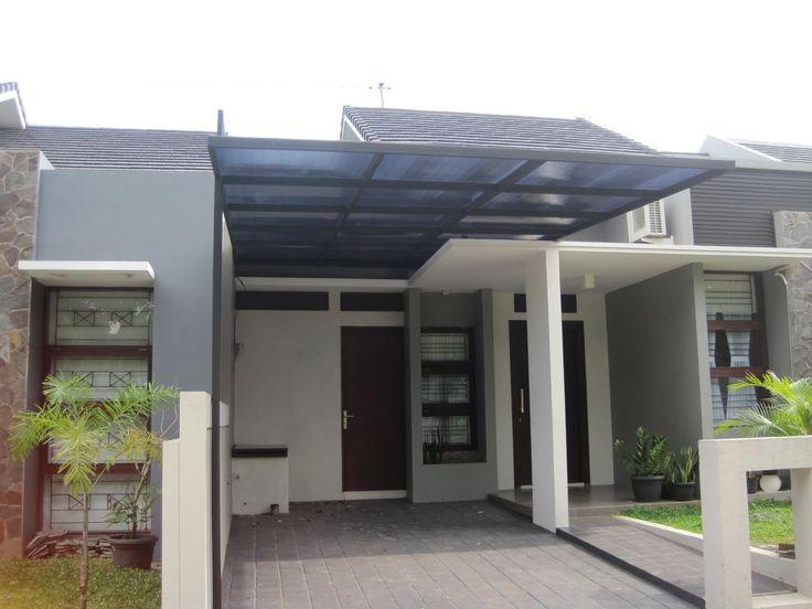 Desain Kanopi Rumah Minimalis Sederhana Bahan Atap Seng