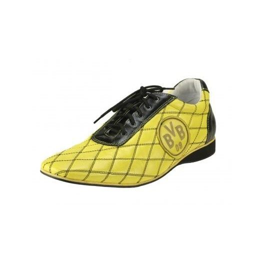 Pánske kožené športové topánky žlté PT136 - manozo.hu