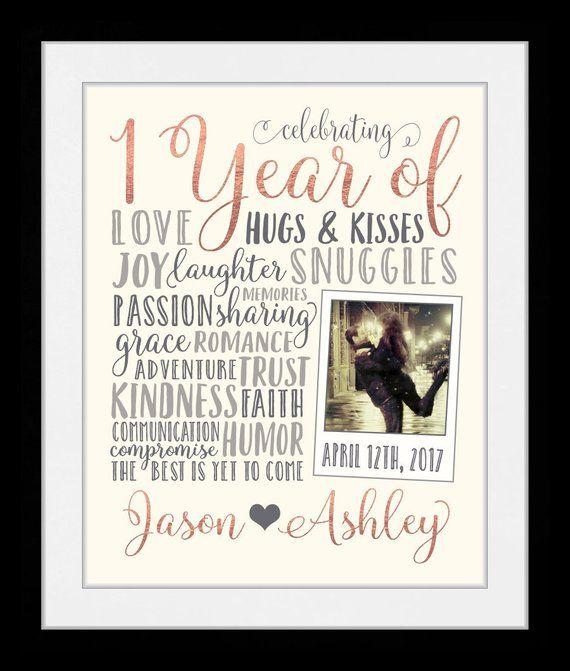 Any Year 1 Year Anniversary Gifts 1 Year Personalized Gift Etsy 1 Year Anniversary Gifts Year Anniversary Gifts Anniversary Gifts For Parents