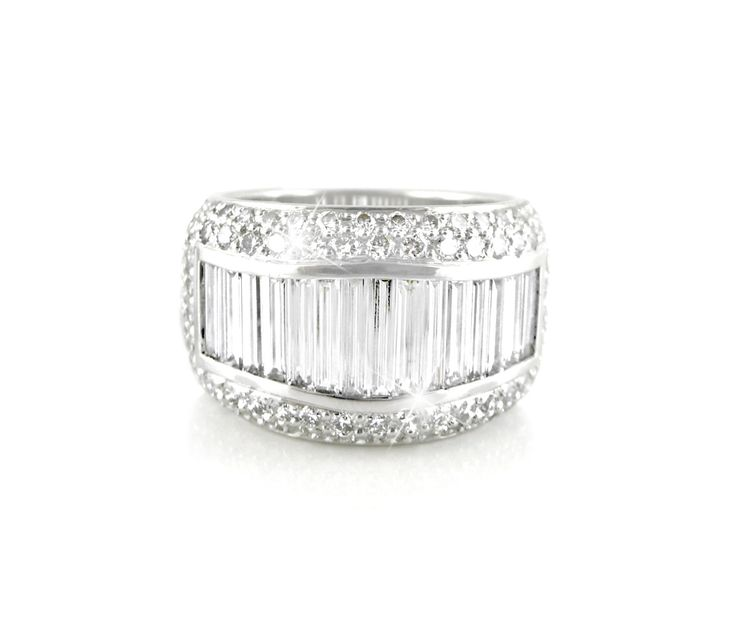 An 18ct White Gold and Diamond Eternity Dress Ring