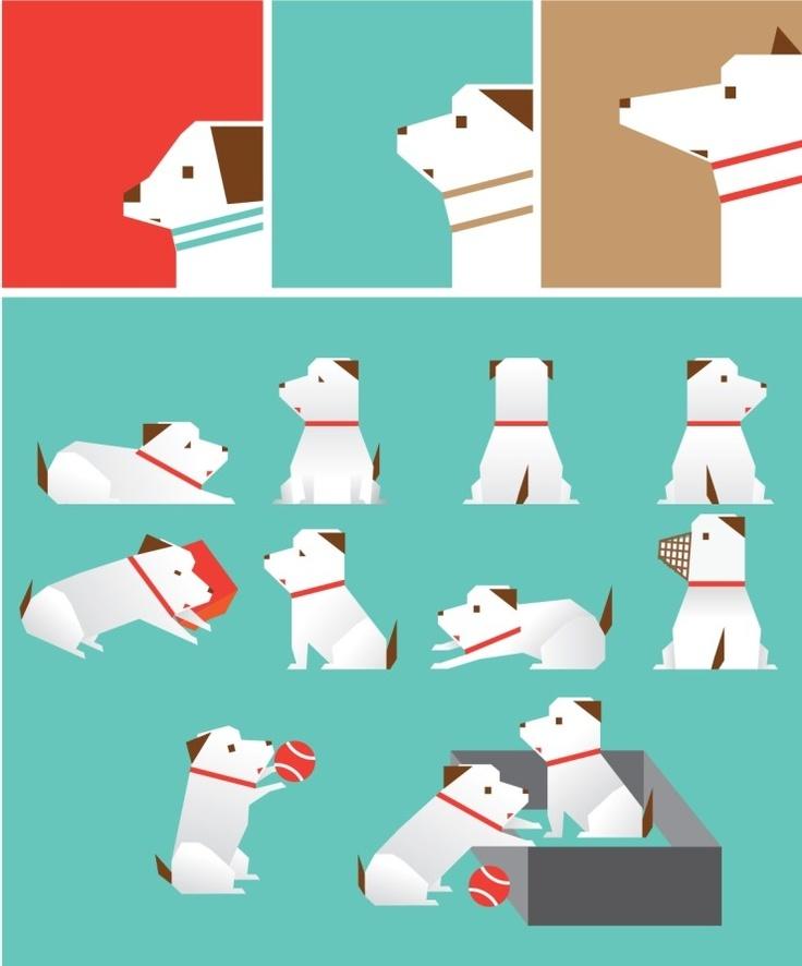 강아지 일러스트
