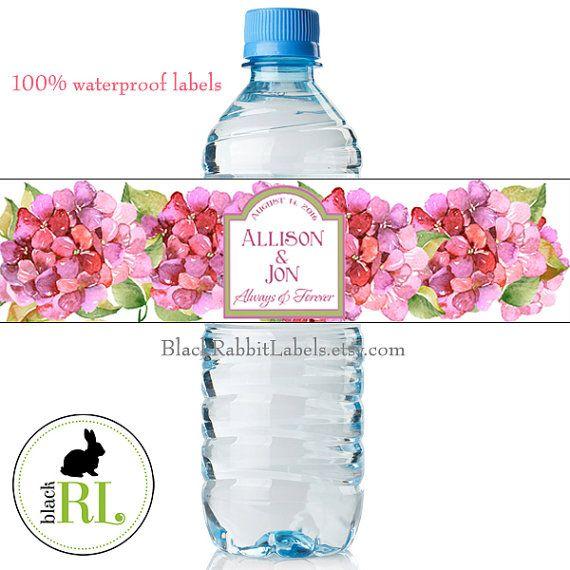 Water Bottle Flowers: 48 Best Water Bottle Labels Images On Pinterest