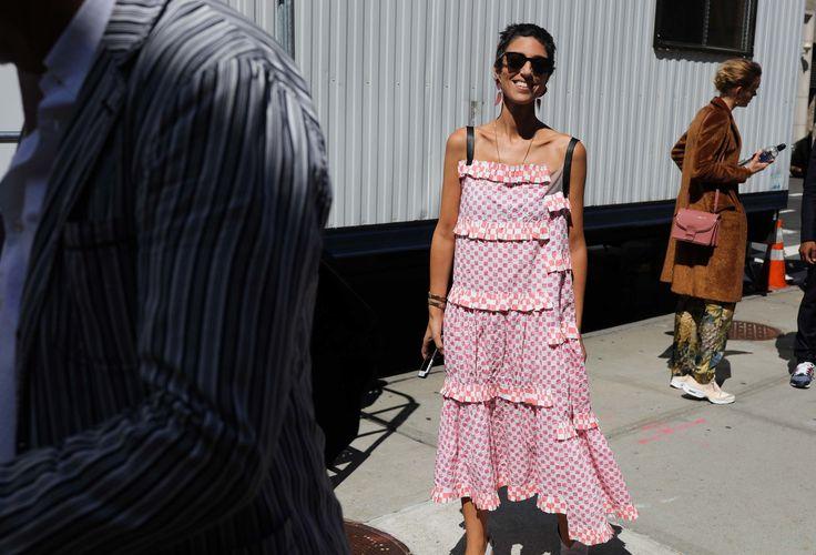 Yasmin Sewell in a Loewe dress