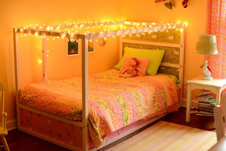 Ikea Kura Loft Bed Hack, Heather Ross Fabric, Sarah Jane Fabric