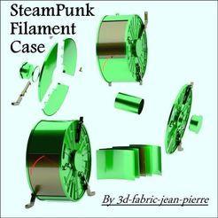 Steampunk filament case