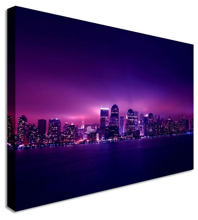 purple rain clouds by city art canvas printers canvas art cheap prints by www
