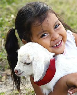 Provide a goat to give nourishment