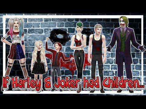 The Sims 4 - CAS - If Harley & Joker had Children - YouTube