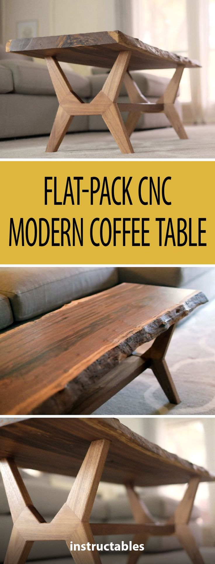 Flat-Pack CNC Modern Coffee Table #woodworking #f…