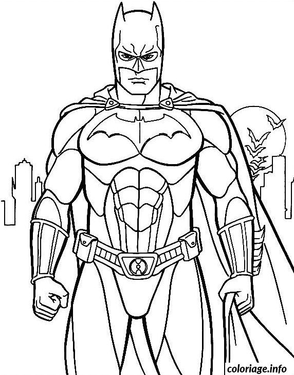 Coloriage Batman De Face Dessin A Imprimer Batman Boyama Adult