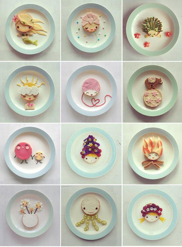 edible art by sandra van den broek @Sandra Pendle Van den Broek  - inspiratie bento