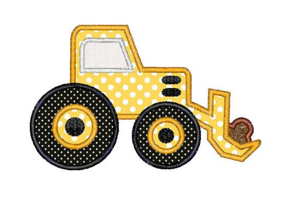 Buy 3 Get 1 Free - Embroidery Machine Design Applique Bulldozer on Etsy, $3.50