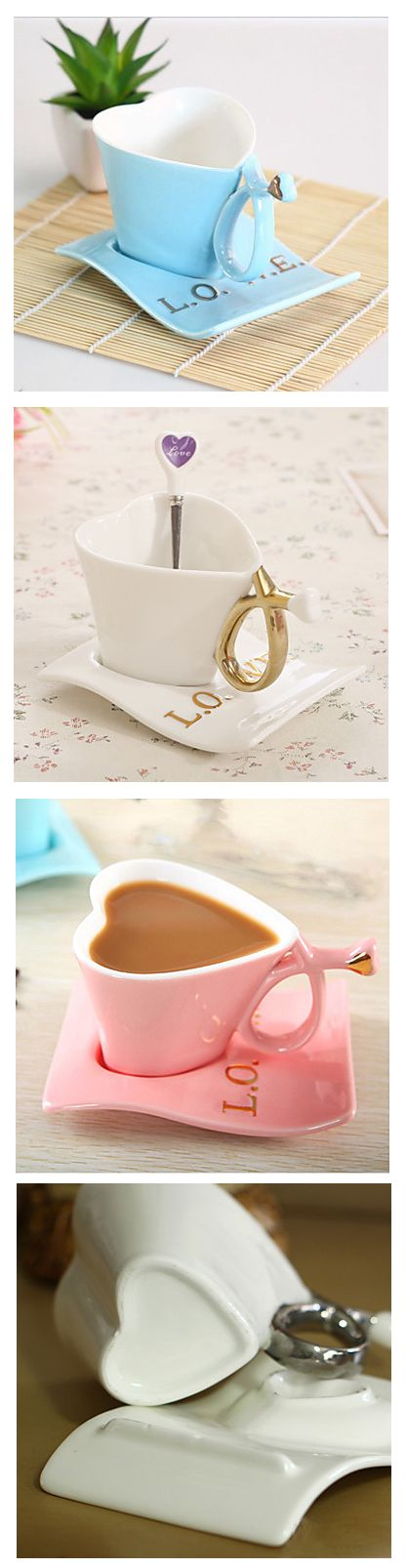 What a lovely teacup  <3 Isn't it a good idea to give your beloved this sweet present or to have it for yourself?  Only now for $11.99