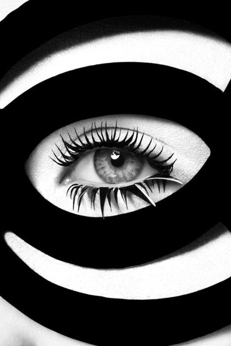 Черно белый картинки глаза
