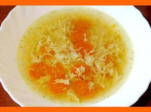 rýchla vajíčková polievka: