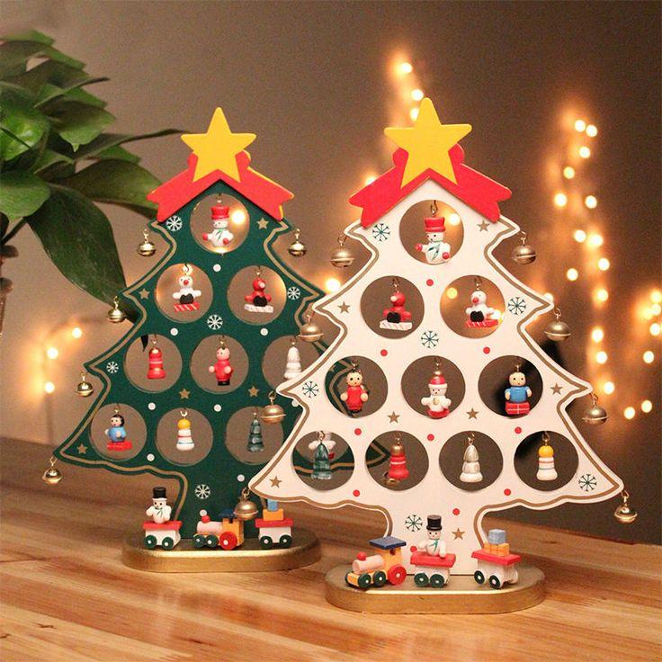 DIY Christmas Ornament Wooden Christmas Tree Christmas