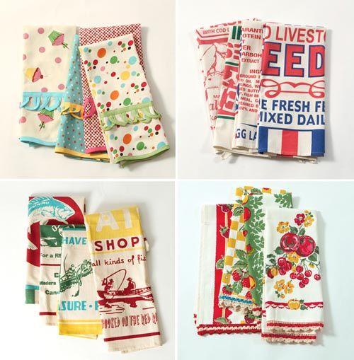 Tea Towel Kitchen Curtains: 286 Best Tea Towels Images On Pinterest