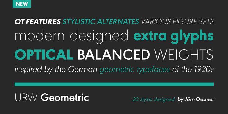 URW Geometric™ - Webfont & Desktop font « MyFonts