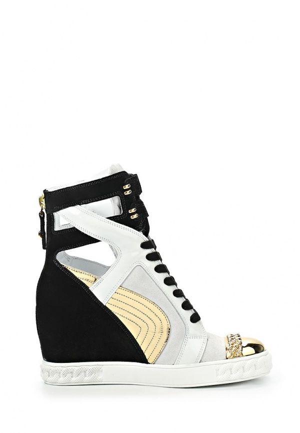 CASADEI SNEAKERS BLACK, WHITE & GOLD