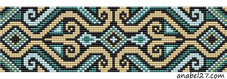 Схемы браслетов - станочное ткачество | - Схемы для бисероплетения / Free bead patterns -