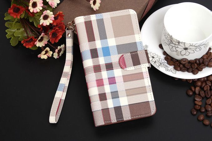 Burberry Samsung Galxy S7 Edge Plus Covers Wallet Brown Sleeve Coque Fundas Capa Para