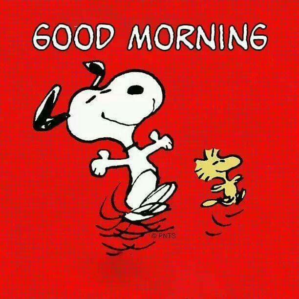 Good Morning - Snoopy and Woodstock Dancing