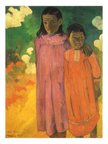 Piti Teina (Two Sisters), 1892 Giclee Print by Paul Gauguin at AllPosters.com