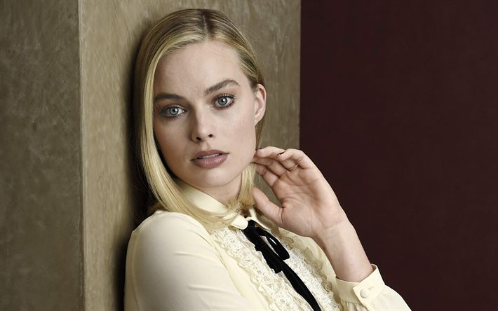 Download wallpapers Margot Robbie, portrait, photoshoot, Australian actress, Hollywood star