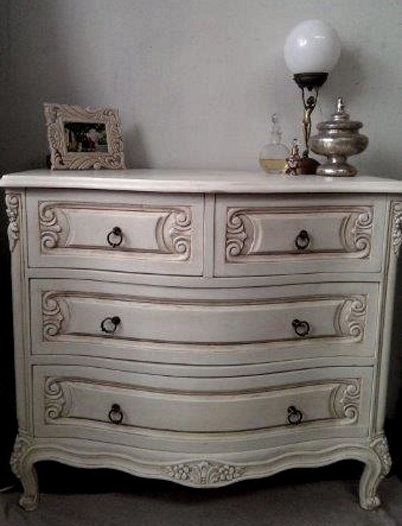 stunning French Provincial style chest of drawers, painted in chalk paint then sealed with an antique wax